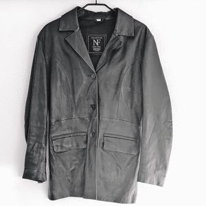 90s European Vintage leather jacket